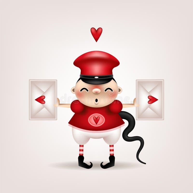 Lettera castana della ragazza royalty illustrazione gratis