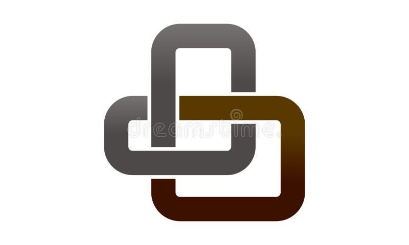 Lettera a catena B dei collegamenti illustrazione di stock