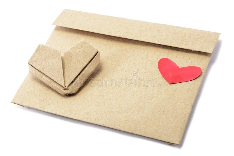 lettera con cuore immagini stock