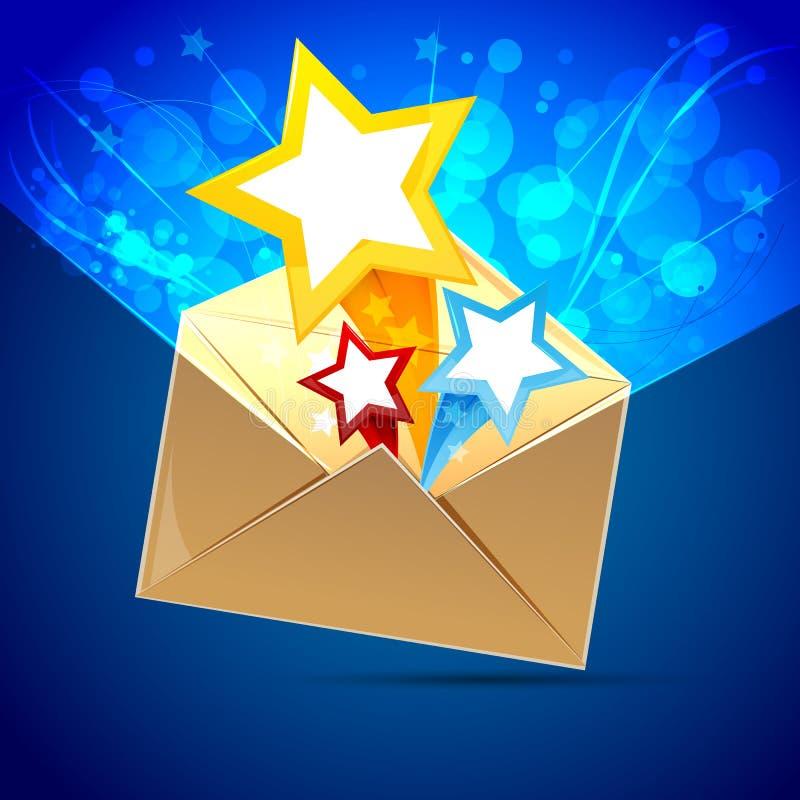 Lettera con le stelle illustrazione di stock