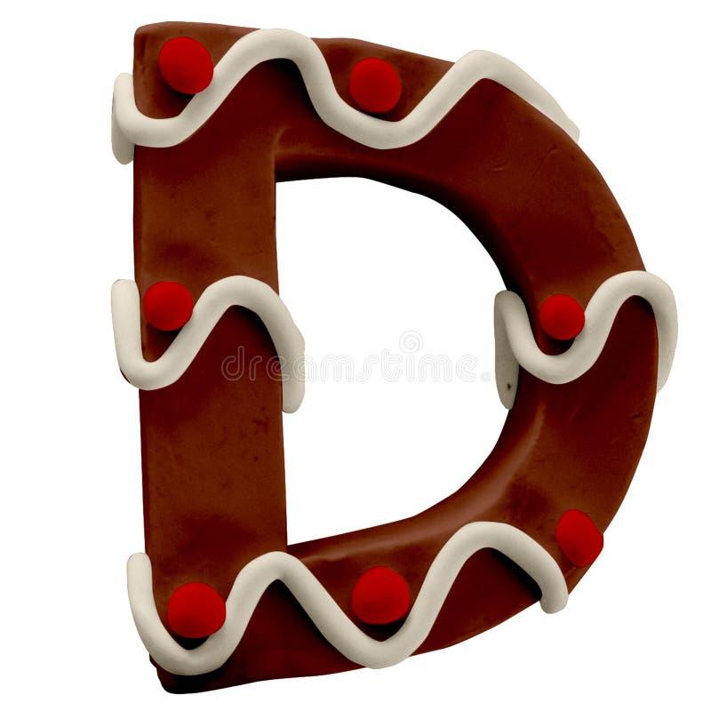 Lettera D Cake Font Cake Font Fabbricato a mano con plastica fotografie stock libere da diritti
