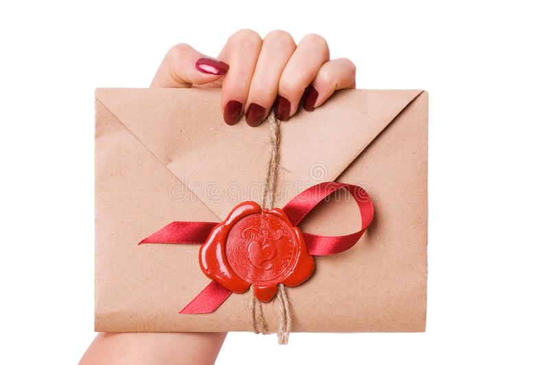 Lettera del biglietto di S. Valentino immagine stock libera da diritti