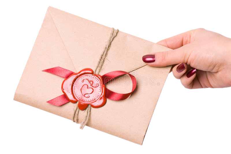 Lettera del biglietto di S. Valentino fotografia stock libera da diritti