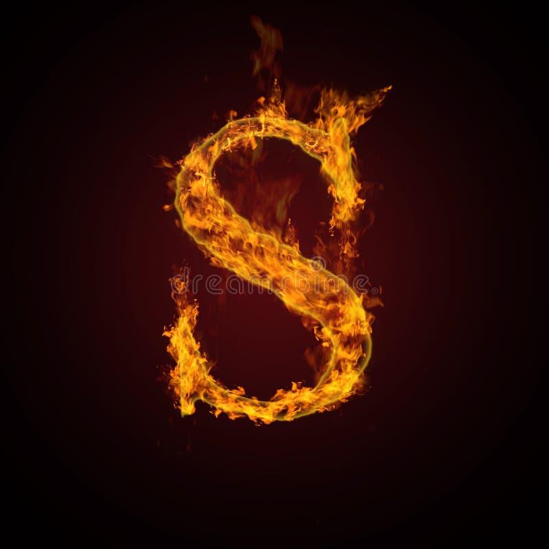 Lettera del fuoco illustrazione vettoriale