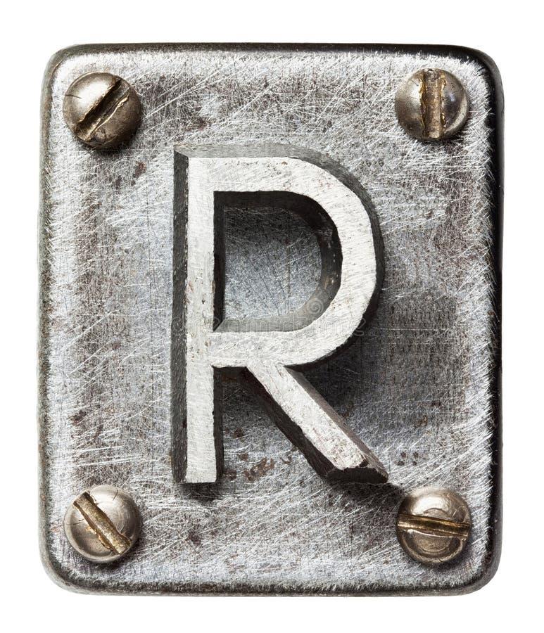 Lettera del metallo fotografie stock libere da diritti