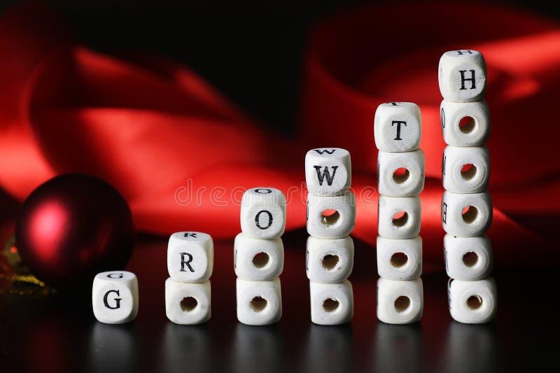 Lettera del testo di crescita immagine stock