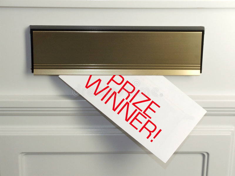 Lettera del vincitore del premio fotografie stock