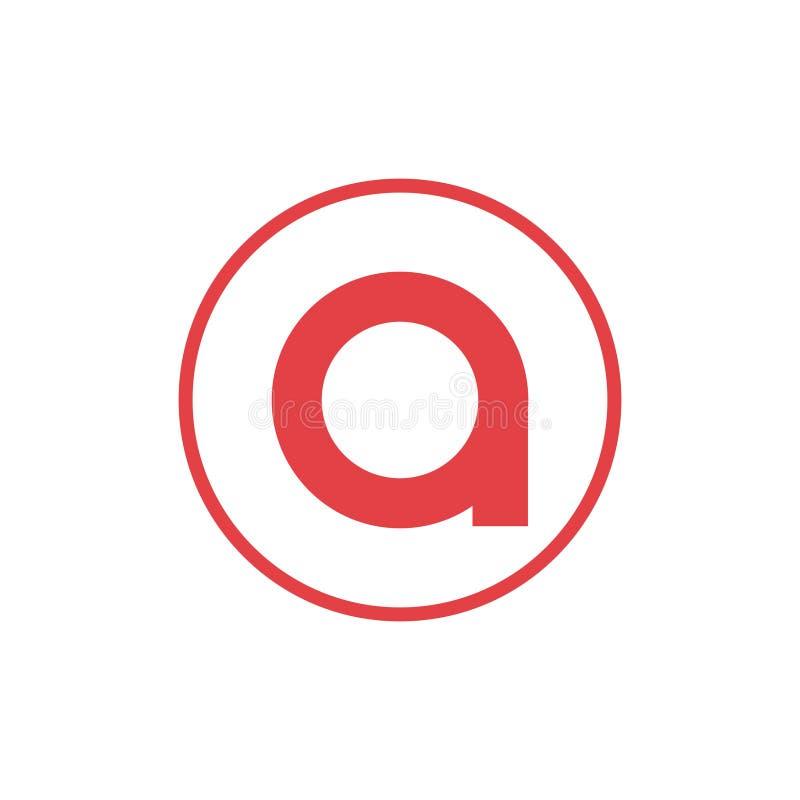 lettera dell'illustrazione di vettore una progettazione negativa di logo dell'icona della lettera o dello spazio illustrazione vettoriale