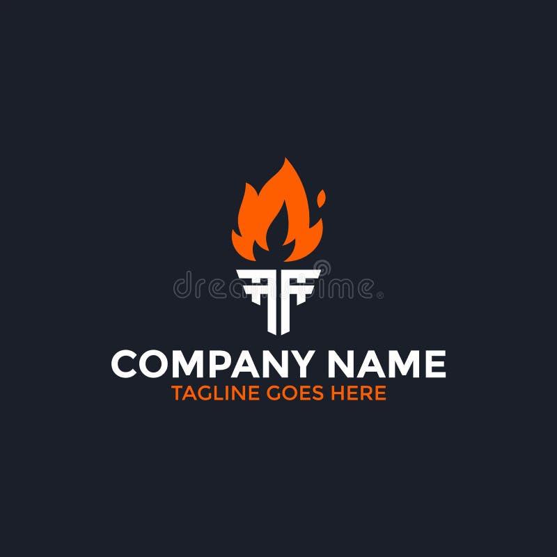 Lettera dell'ingranaggio un logo illustrazione di stock