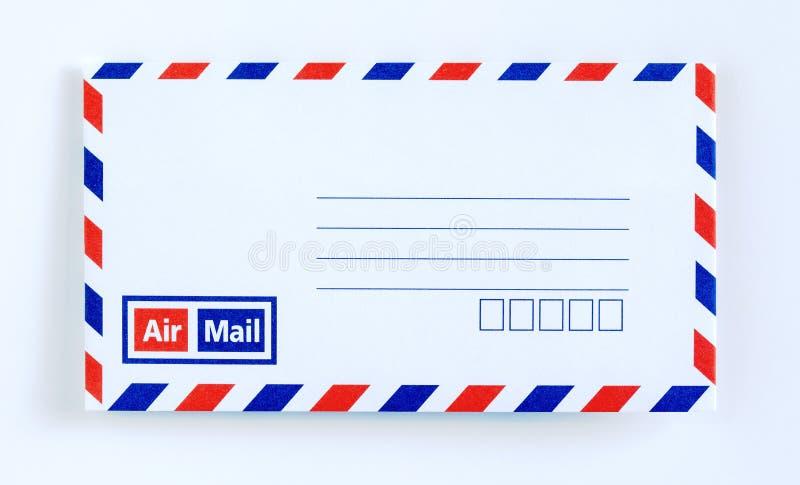 Lettera della busta della posta aerea fotografie stock