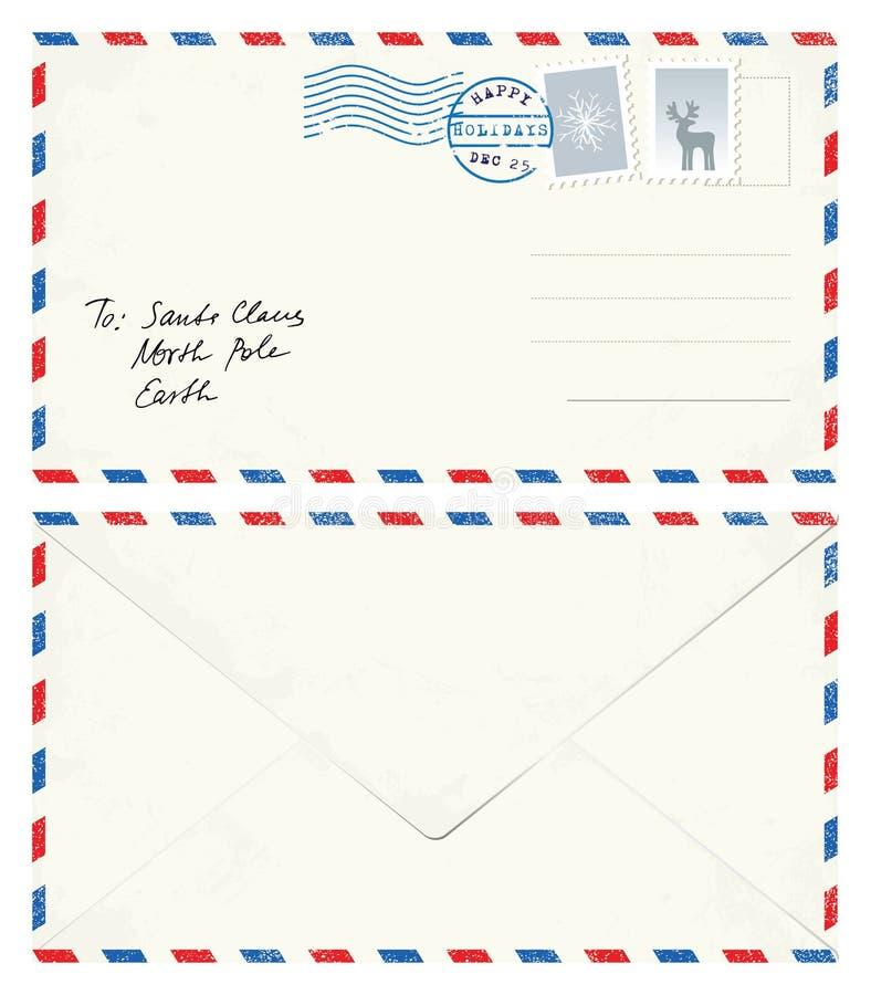 Lettera della cartolina a Santa royalty illustrazione gratis