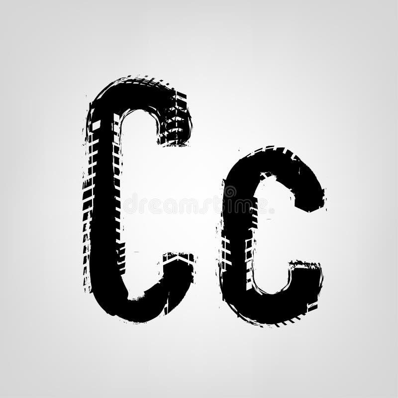 Lettera della gomma di lerciume illustrazione vettoriale