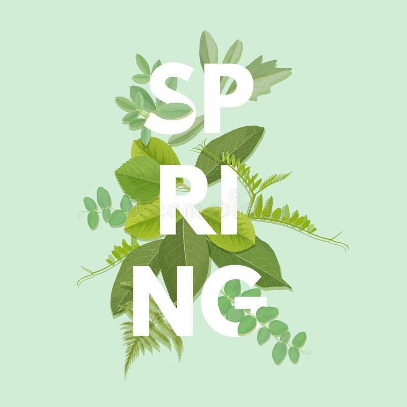 Lettera della primavera con le foglie royalty illustrazione gratis