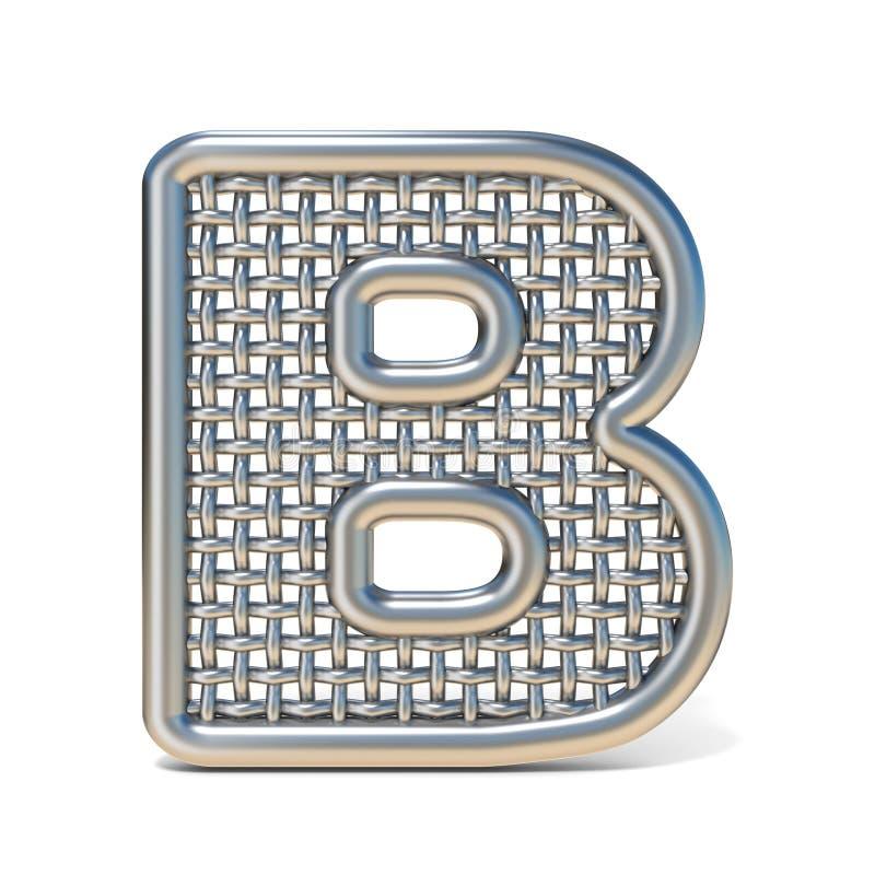 LETTERA descritta B 3D della fonte della maglia del nastro metallico illustrazione vettoriale