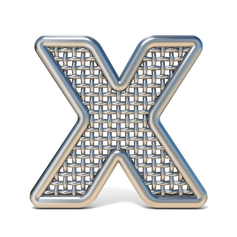 LETTERA descritta X 3D della fonte della maglia del nastro metallico royalty illustrazione gratis