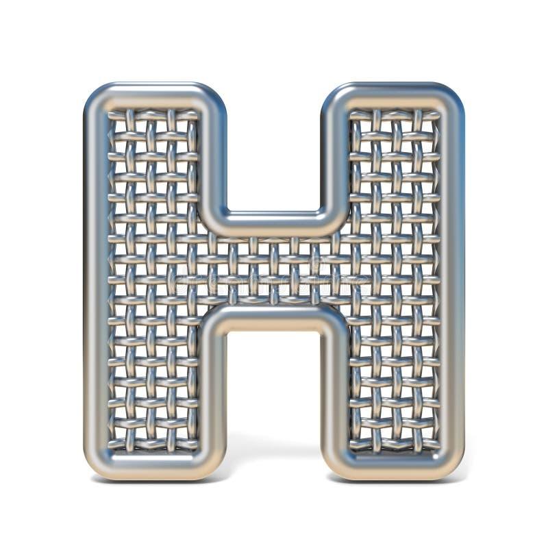LETTERA descritta H 3D della fonte della maglia del nastro metallico royalty illustrazione gratis