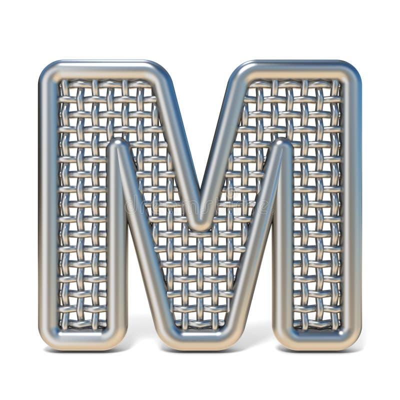 LETTERA descritta m. 3D della fonte della maglia del nastro metallico royalty illustrazione gratis