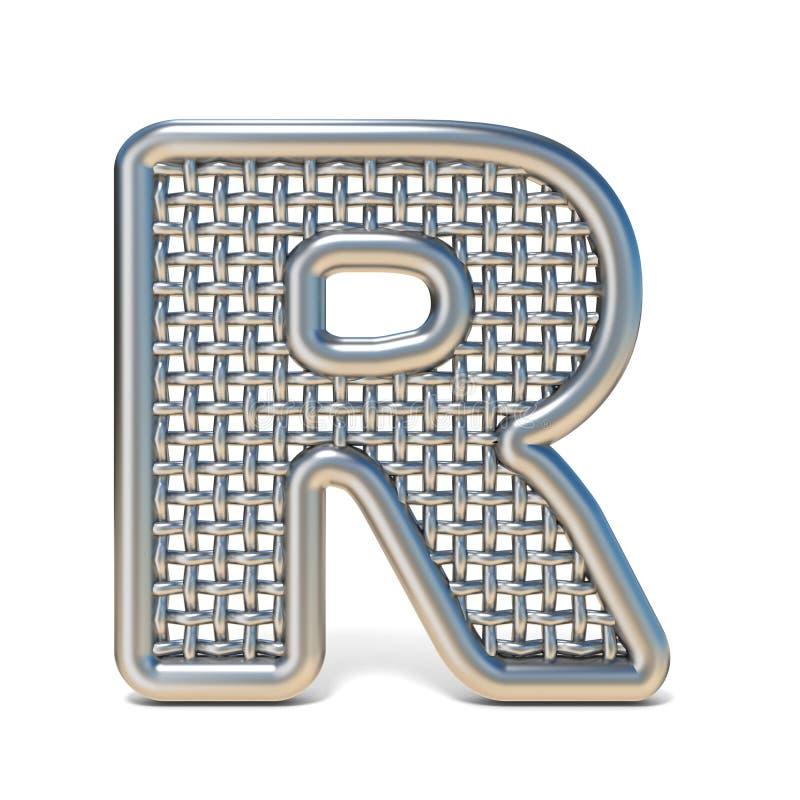 LETTERA descritta R 3D della fonte della maglia del nastro metallico royalty illustrazione gratis