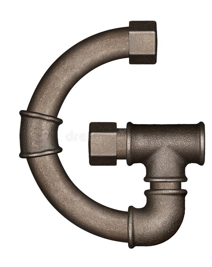 Lettera di alfabeto del tubo immagini stock libere da diritti