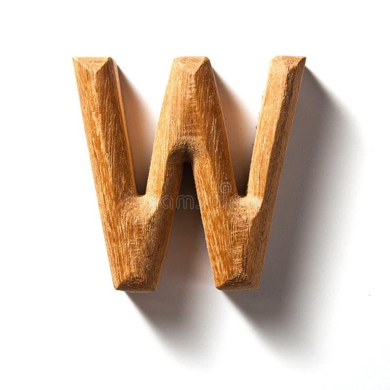 Lettera di alfabeto (w) fotografie stock libere da diritti