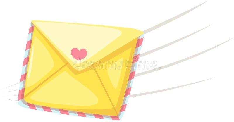 Lettera di amore illustrazione di stock