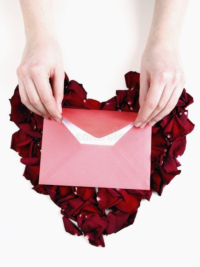 Lettera di amore immagini stock