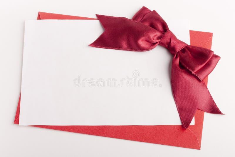 Lettera di congratulazioni fotografia stock