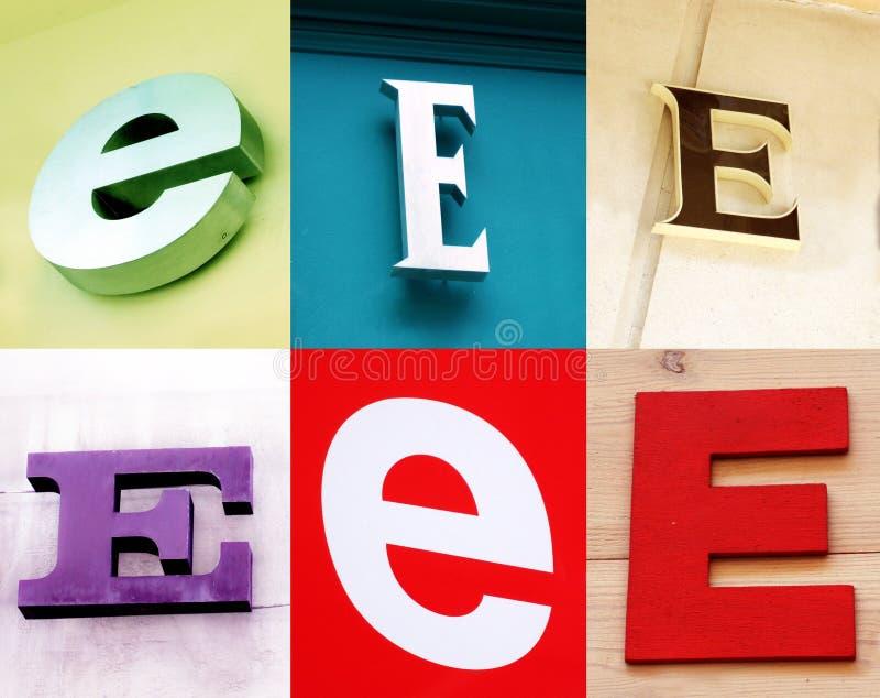 Lettera di E - accumulazione urbana fotografia stock libera da diritti