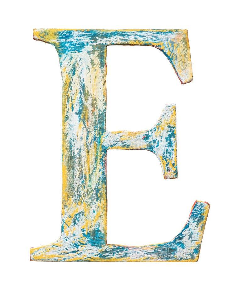 Lettera di legno di alfabeto fotografia stock libera da diritti