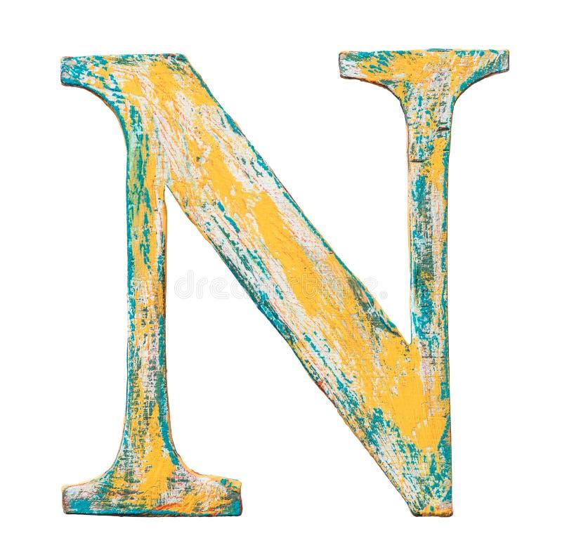 Lettera di legno di alfabeto royalty illustrazione gratis