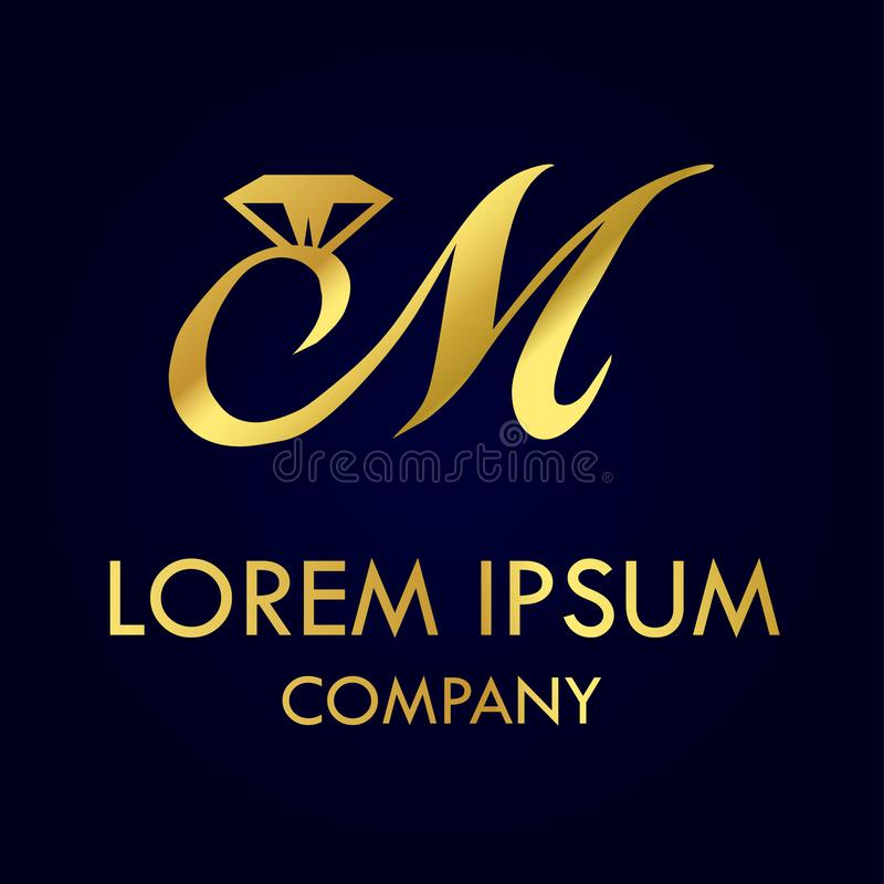 Lettera di lusso m. Logo royalty illustrazione gratis