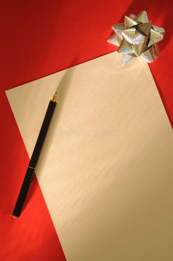 Lettera di natale fotografia stock