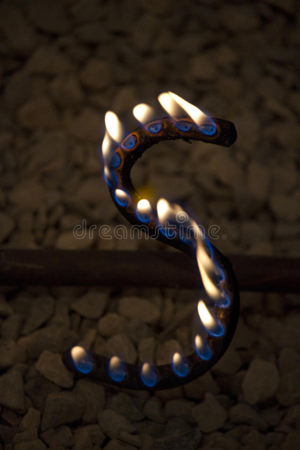 Download Lettera di S in fuoco fotografia stock. Immagine di figura - 30826126