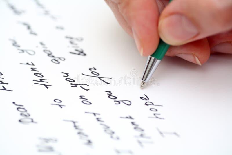 Lettera di scrittura all'amico immagine stock libera da diritti