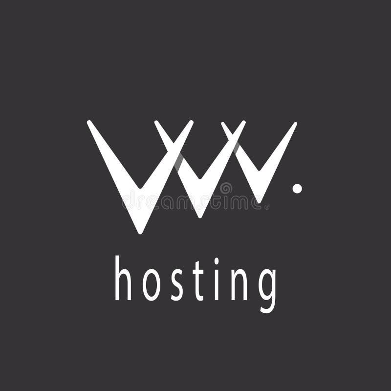 Lettera di V o modello astratto di logo del segno di web hosting illustrazione di stock