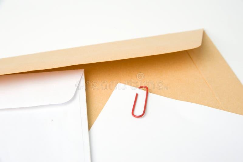 Lettera e busta fotografie stock