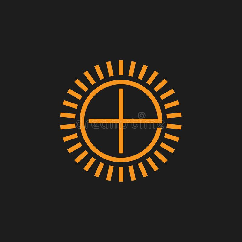 Lettera e più il vettore di logo di simbolo di lustro royalty illustrazione gratis
