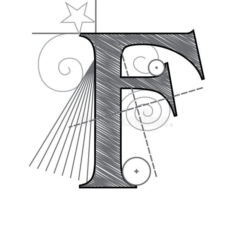 Lettera F illustrazione vettoriale