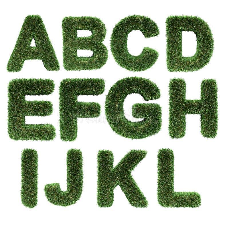Lettera fatta di erba illustrazione di stock