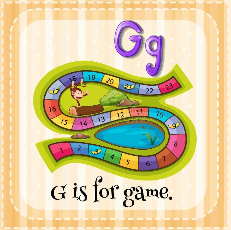 Lettera G illustrazione di stock