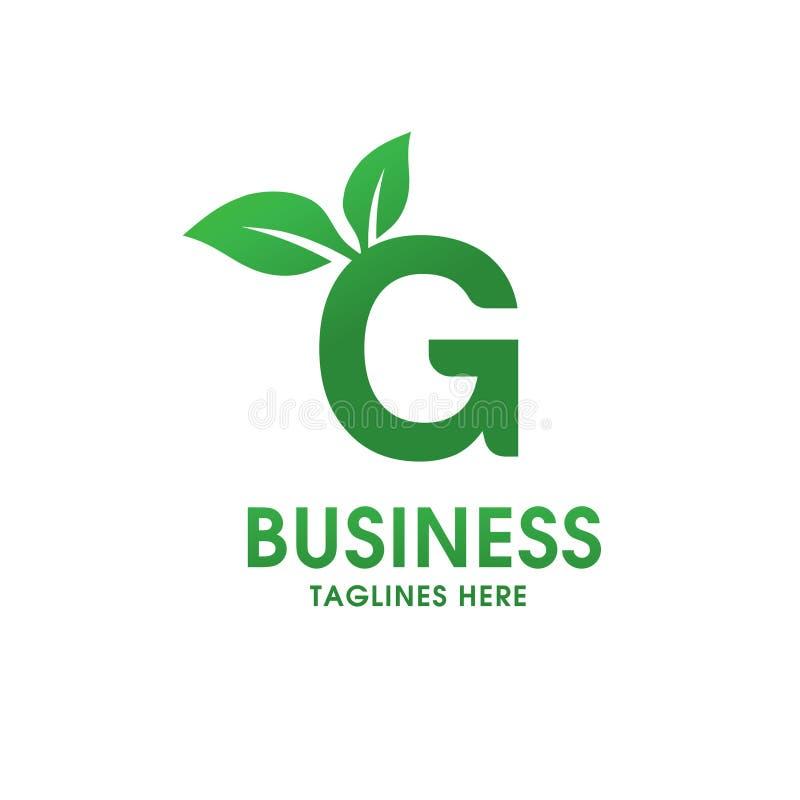 Lettera G con il logo della foglia royalty illustrazione gratis