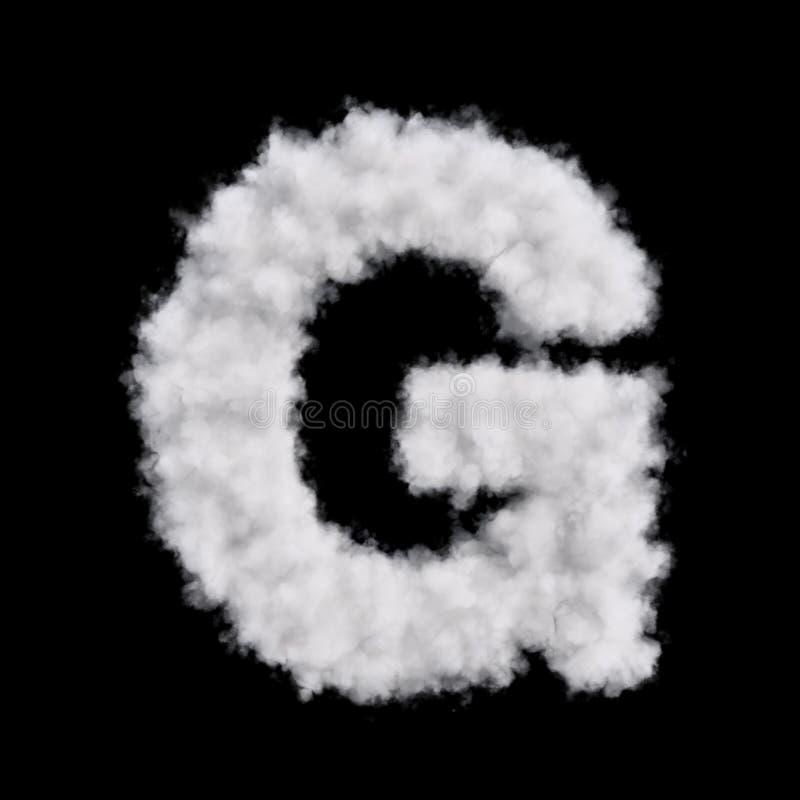 Lettera G della nuvola illustrazione di stock
