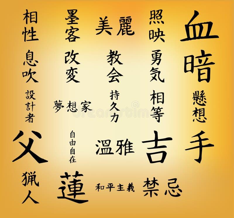 Lettera giapponese illustrazione di stock