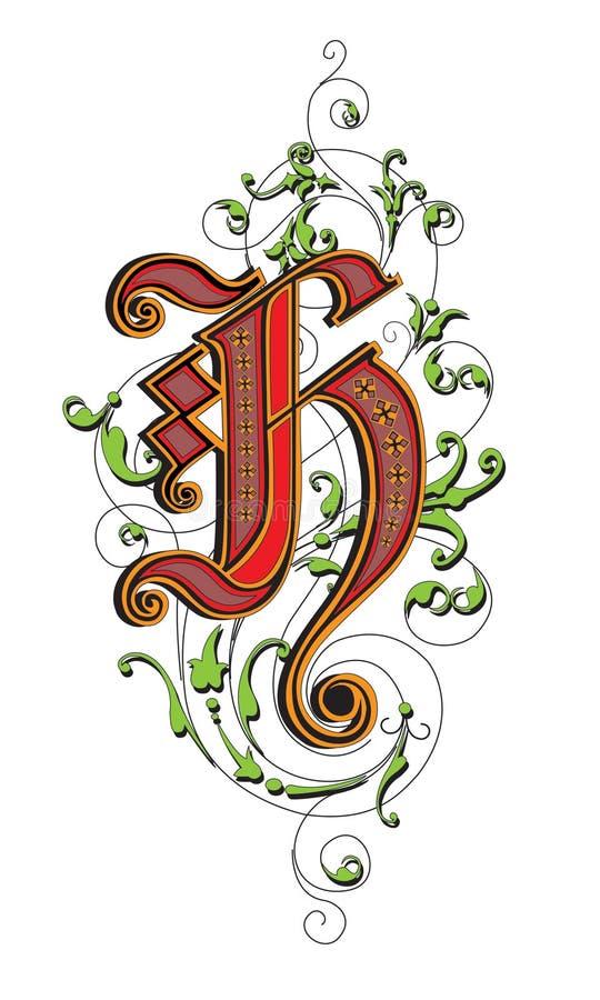 Lettera H illustrazione di stock