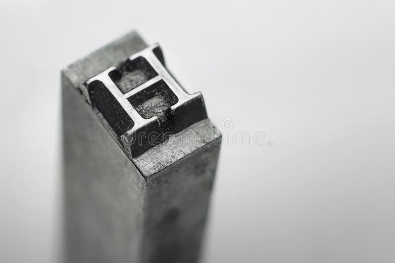 Lettera H fotografie stock libere da diritti