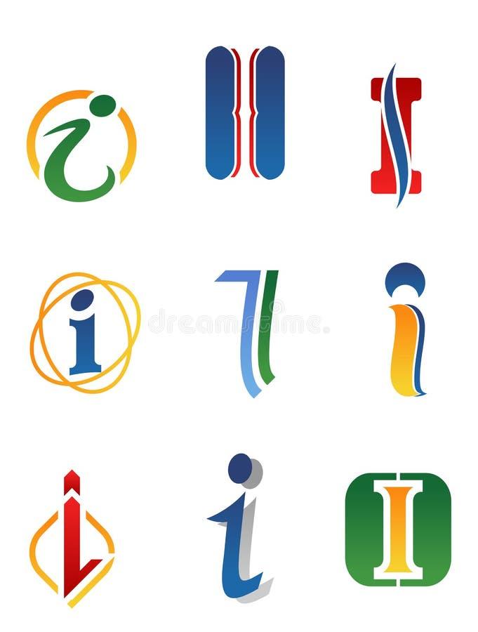 Lettera I di alfabeto illustrazione vettoriale