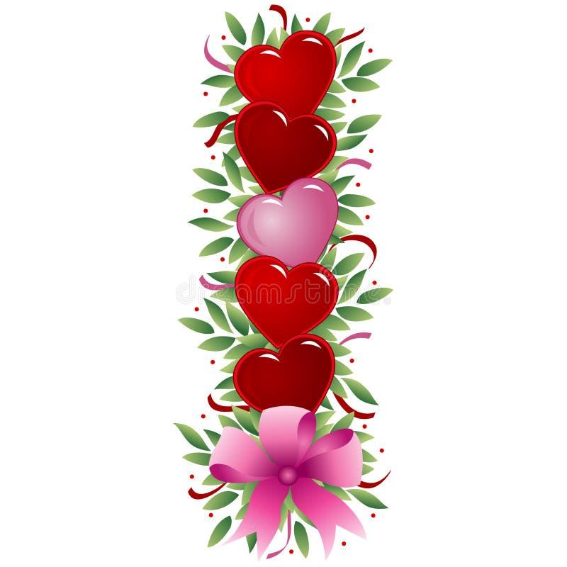Lettera I - Lettera del biglietto di S. Valentino royalty illustrazione gratis