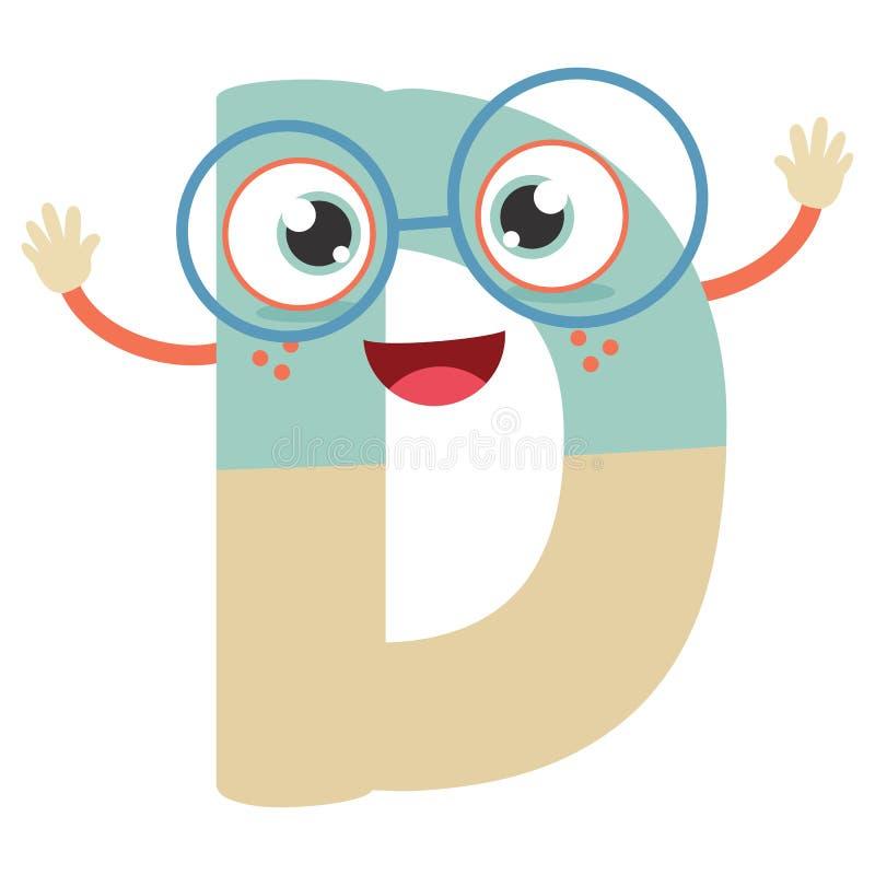 Lettera illustrata D illustrazione vettoriale