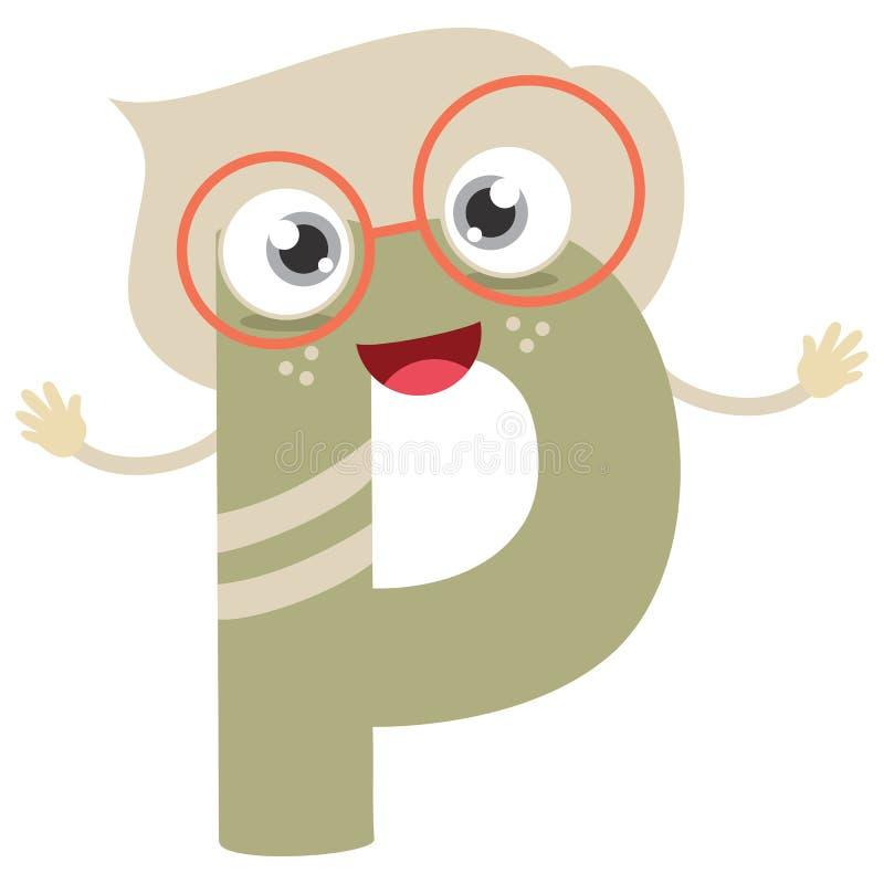 Lettera illustrata P illustrazione vettoriale