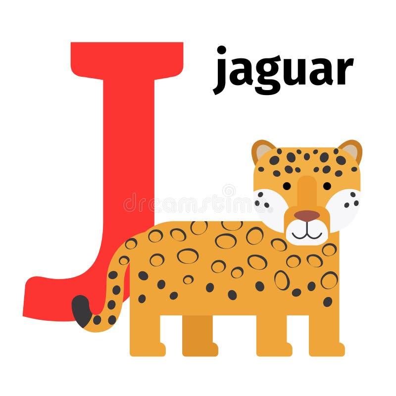 Lettera inglese J di alfabeto dello zoo degli animali royalty illustrazione gratis